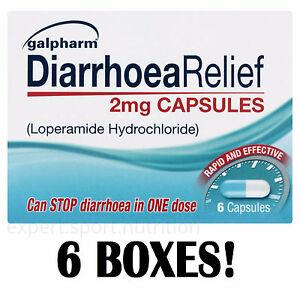 36x Diarrhoea Relief 2mg Capsules Rapid Effect LOPERAMIDE HYDROCHLORIDE Tablets