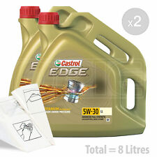Car Engine Oil Service Kit / Pack 8 LITRES Castrol EDGE 5w-30 LL 8L