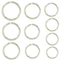 Sterling Silver 925 Jump Ring Round Open 21 Gauge Chain End 1 Piece 2.8mm - 8mm