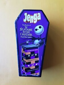 Nightmare Before Christmas Jenga Collector's Edition Coffin Box Missing 1 piece.