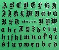 4 Colors Art Latin Roman English Alphabet Letter 3D Nail Art Sticker HBJY036