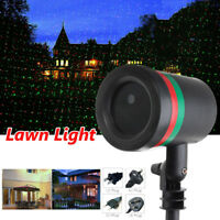 RGB Waterproof Outdoor Garden Projector Moving Laser Xmas Stage Fairy Star Light