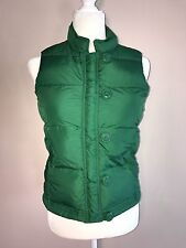 J. Crew Women's Down Vest Green Puffer Vest Rope & Toggle Button Close Sz XS
