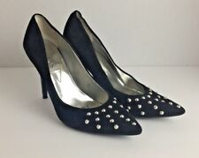 Women's GUESS Black and Silver Stud High Heel Pumps SIZE 6.5 M Great Used Cond