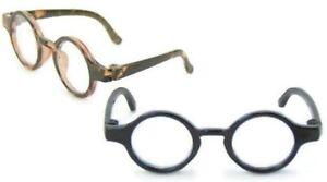 """Tortoise & Black Rimmed Glasses for 14.5"""" American Girl Wellie Wisher Dolls"""