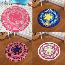 Card Captor Sakura Kids Bedroom Cute Magic Circle Round Carpet Floor Mat Blanket