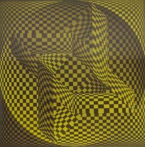 "Mid Century 1965 Springbok Jigsaw Puzzle ""Equivocation II"" Ben Cunningham Circle"