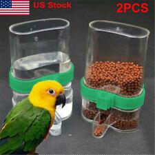 New listing 2*Pet Bird Cage Auto Water Bottle Parrot/Cockatiel Food Hanging Dispenser Feeder