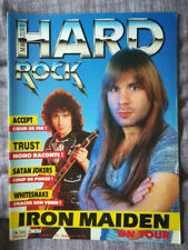 Iron Maiden cover metal magazine 1985 HARD ROCK 8 w/ Trust Accept Whitesnake