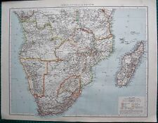 1895 LARGE ANTIQUE MAP-AFRICA, SOUTH OF THE EQUATOR