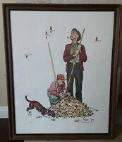 Original Norman Rockwell Collotype Lithograph Grandpa And Me Pencil Signed