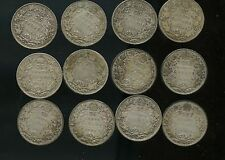 Lot of 12 George V Canada 25 cents 1912 - 1936 A769