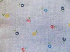 WTW Fabric Flower Floral Garden Ladybug Retro Calico Vintage 1 3/4 yd Quilt