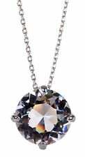 Swarovski Elements Crystal Brilliance Solitaire Pendant Necklace Rhodium 7155z