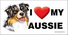 I (Heart) Love my Aussie Large Car Fridge Dog Magnet 4x8 Usa New Waterproof