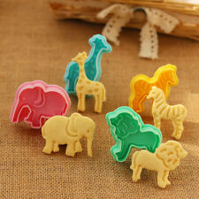 4x Jungle Safari Animal Cookies Plunger Cutter Fondant Cake Biscuit Baking Mold
