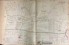 1888 PHILADELPHIA HARRISBURG, COLLEGEVILLE, HOLMESBURG, TORRESDALE PA ATLAS MAP