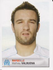 202 MATHIEU VALBUENA OLYMPIQUE MARSEILLE OM ROOKIE STICKER FOOT 2007 PANINI