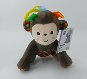 Pram Pals Monkey Soft Toy Plush Comforter Soother