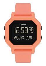 New Nixon Women's Siren Digital Watch Light Tangerine