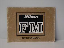 Original Nikon Fm Camera Instruction Manual Guide English