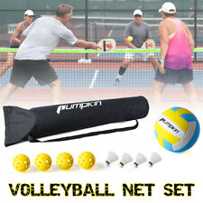 17FT Portable Badminton Volleyball Net Set with Stand/Frame Pickleball Carry Bag