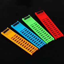 1Pc Fishing Rig Board Plastic Double Side Spring Hooks Storage Catch Holder P*To
