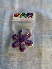 Hibbitz Crocs Shoe Charms Large Purple Flower & Pink Heart Gem Stone NWT
