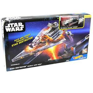 Star Wars Hot Wheels Star Destroyer Double Jump Duel With Millennium Falcon Car
