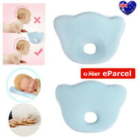 Baby Infant Newborn Memory Foam Pillow Prevent Flat Head Anti Roll Support AU NM