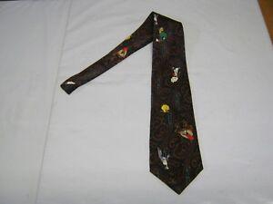 Looney Tunes Necktie Tie 58 x 4 multicolor Tweety Bugs Bunny Sylvester Taz 14611