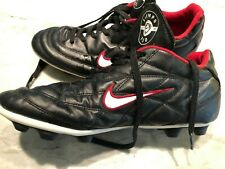 Nike Tiempo 750 Soccer Cleats Black Red Size 11.5 US 45.5 EUR