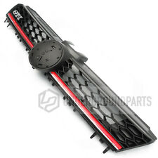 VW GOLF MK7 GTI STYLE HONEYCOMB FRONT BUMPER RADIATOR UPPER GRILLE BLACK & RED