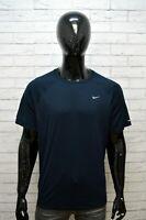 Maglia Uomo NIKE DRI FIT Taglia XL 2XL Maglietta Manica Corta Shirt Blu Hemd