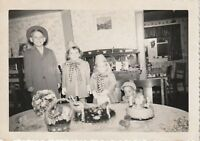 EASTER KIDS Vintage FOUND PHOTOGRAPH bw FREE SHIPPING Snapshot BASKETS 810 2 G