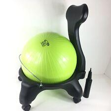 Classic Balance Ball Chair Exercise Stability Yoga Premium Ergonomic-Green 55cm