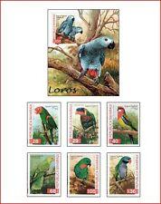 SAH9804 Parrots 6 stamps and block MNH SAHARA 1998