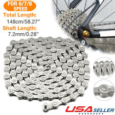 1x G51 6 7 8-Speed bike steel chain 1/2 x 3/32 Inch 116 Links For mountain bike