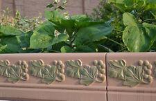 Decorative Fence Mould  Grapes Border Edging Concrete Garden Mold #BR08
