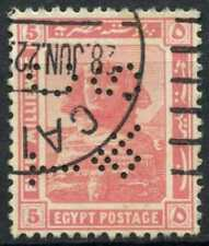 """Egypt 1921-2 SG#90, 5m Pink, """"TC&S"""" Used #D90683"""