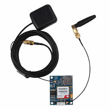 Top Nuevo Quad Band SIM808 GPS GSM GPRS Module Board L-shape Antenna for Arduino
