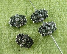 80pcs Tibetan Silver Lotus Flower Spacers Craft DIY 12x9x4mm zn64262