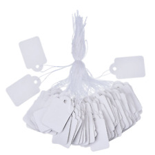 White Marking Tags Price Tags Price Labels Display Tags with Hanging String, 500