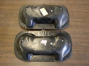 NOS OEM Ford 1959 Fairlane Headlight Bodies Pair Buckets