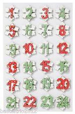 Numeri in legno-set 1-24 COLORATO ADVENTSKALENDER numeri Advent Calendario LEGNO-eiskristall