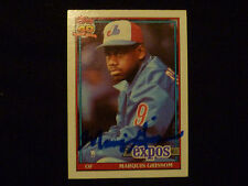 MARQUIS GRISSOM 1991 TOPPS SIGNED AUTOGRAPHED CARD #283 EXPOS