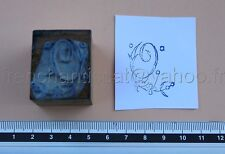 C1033 Mercerie ancien tampon encre Monogramme lettre O broderie tissu Embroidery