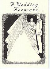 Wedding Card w/ Queen Elizabeth Australia .500 Silver sixpence for Bride's shoe