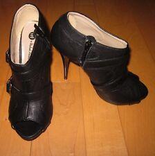 New Michael Antonio Womens Black Open Toe  Heels *Sharp Must C* 8