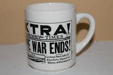 "Collectible Vintage World War 2 ""Europe War Ends"" Newspaper Mug-Daily Times!"
